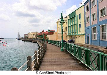 promenade, in, bridgetown, barbados