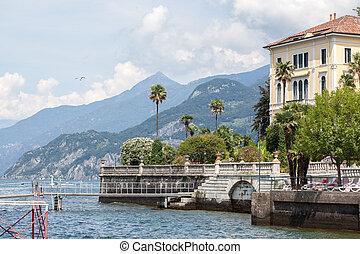 Promenade in Menaggio on Como lake, Italy