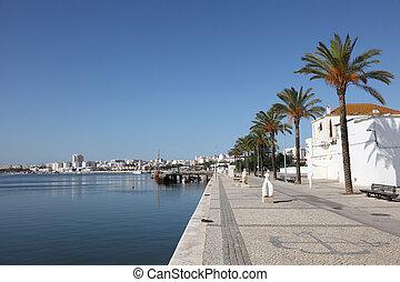 promenade, in, portimao, algarve, portugal