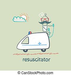 promenades, resuscitator, ambulance