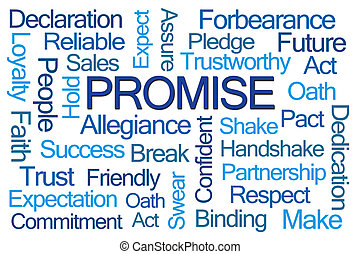 promessa, palavra, nuvem
