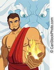 Prometheus Giving Fire