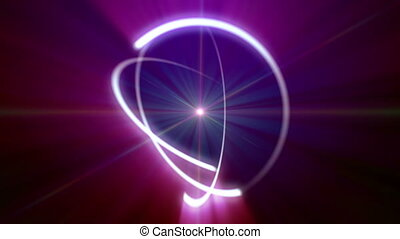 promień, lekki, orbita, atom, abstrakcyjny