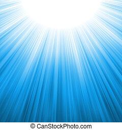 promienie, eps, światło słoneczne, tenplate., 8, sunburst