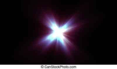 promienie, gwiazda, lekki, długi, czerwony, lustrzany