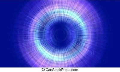promienie, laser, &, tunel, space., ruch obrotowy, turbina, aureola