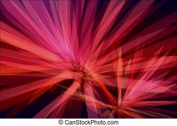 promienie, różowy