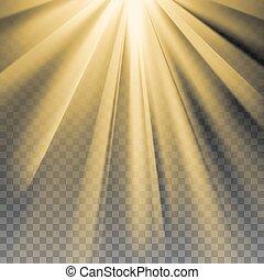 promienie słońca, żółty klosz