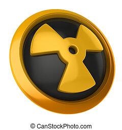 promieniotwórczy, 3d, ikona