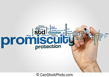 Promiscuity word cloud concept