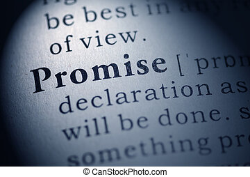 Promise - Fake Dictionary, Dictionary definition of the word...