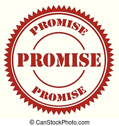 Promise-red stamp - Red stamp with text Promise,vector...