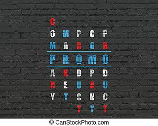 promo, 销售, 难题, concept:, 拼字游戏