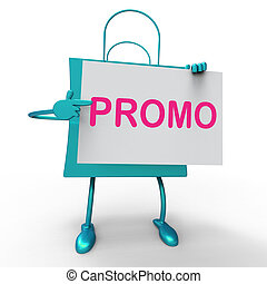 Promo Bag Shows Discount Reduction Or Save - Promo Bag ...