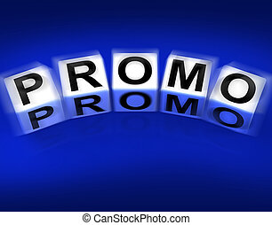 Promo Blocks Displaying Advertisement and Broadcasting Promotions