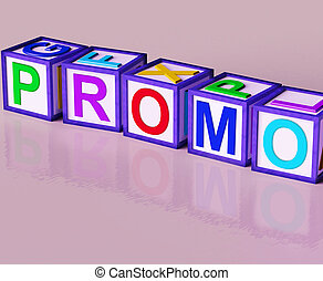 Promo Blocks Mean Special Reduced Price Or Off