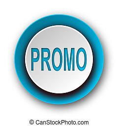 promo blue modern web icon on white background