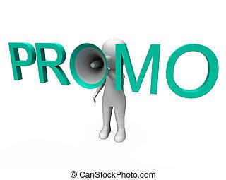 promo, caractère, spectacles, vente, offre, et, escomptes