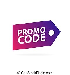 Promo code, coupon code. Flat vector set design illustration on white background