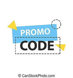 Promo code, coupon code. Flat vector set design illustration on white background.