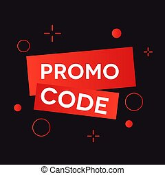 Promo code, coupon code.  Voucher red icon