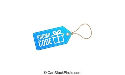 Promo code. Gift Voucher with Coupon Code. Premium eGift Card Background for E-commerce, Online Shopping. Marketing. Motion graphics