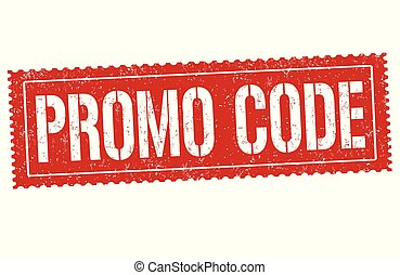 Promo code sign or stamp