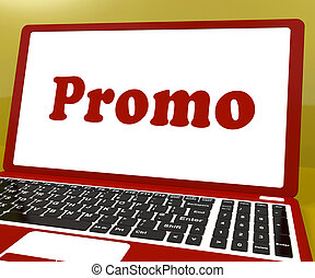 Promo Computer Shows Promotion Discounts And Reductions