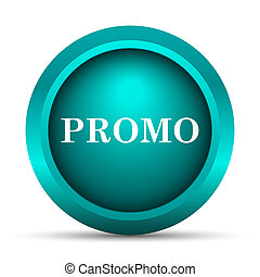 Promo icon. Internet button on white background.