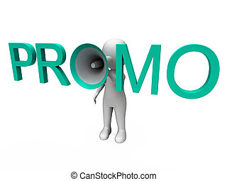 promo, karakter, optredens, verkoop, aanbod, en, korting
