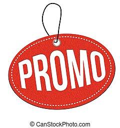 Promo label or price tag