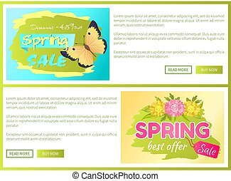 Promo Offer Spring Sale Advertisement Daisy Flower