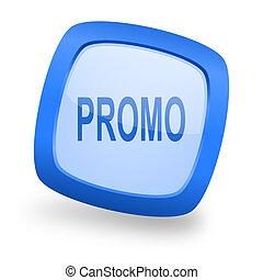 promo square glossy blue web design icon