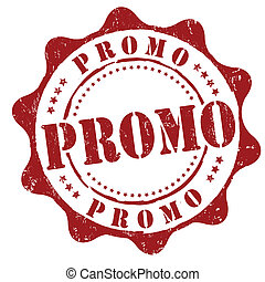 Promo stamp - Promo grunge rubber stamp on white, vector ...
