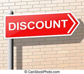 promo, verkoop, illustratie, meldingsbord, korting, 3d, optredens