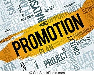 promoción, palabra, nube