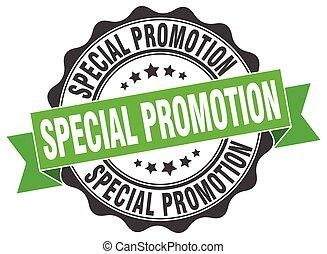 promoción, stamp., signo., especial, sello