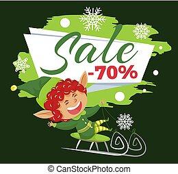 promocyjny, sprzedaż, od, 70, procent, chorągiew, cena