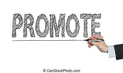 promote written by hand