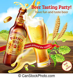 promotion banner for beer tasting party