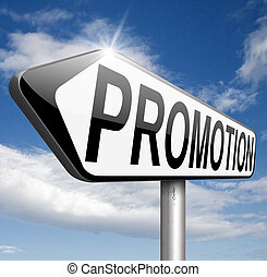 promotion - sales promotions in job or product promotion