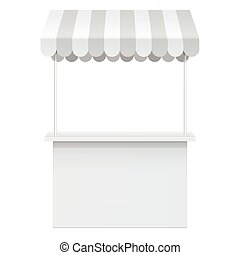 Promotion counter, Retail Trade Stand Isolated on the white...
