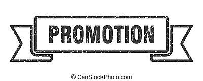 promotion grunge ribbon. promotion sign. promotion banner