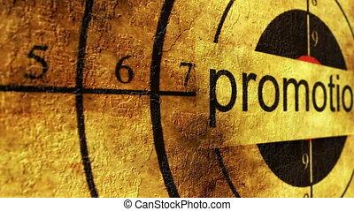 Promotion grunge target concept