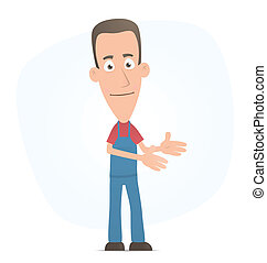 Promotion - Illustration of a cartoon cute character for use...