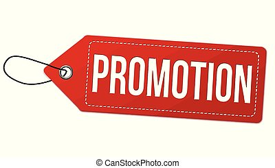 Promotion label or price tag
