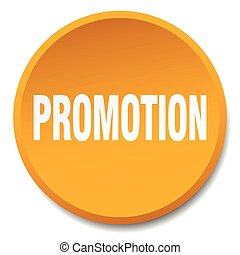 promotion orange round flat isolated push button