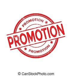 Promotion red round grunge stamp vintage. promotion sign.