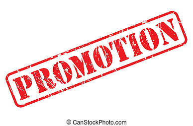 Promotion red stamp text