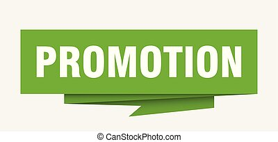 promotion sign. promotion paper origami speech bubble....